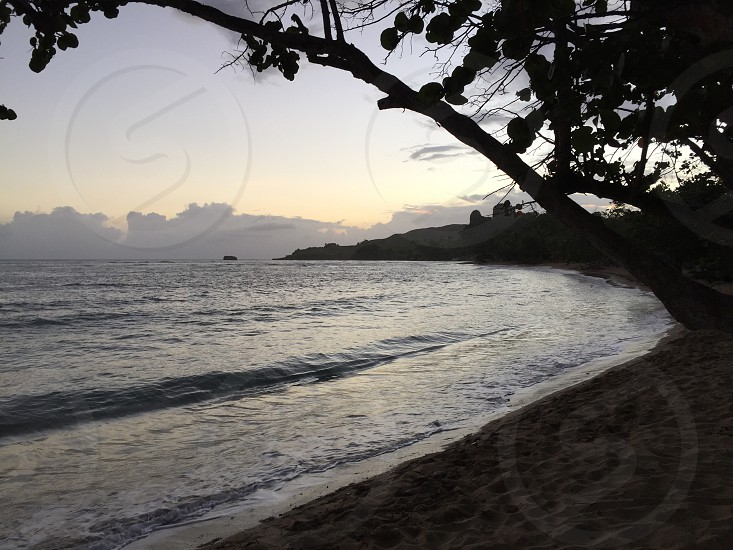 Early morning sunrise on RIU Bachata Beach in San Felipe de Puerto Plata Dominican Republic photo