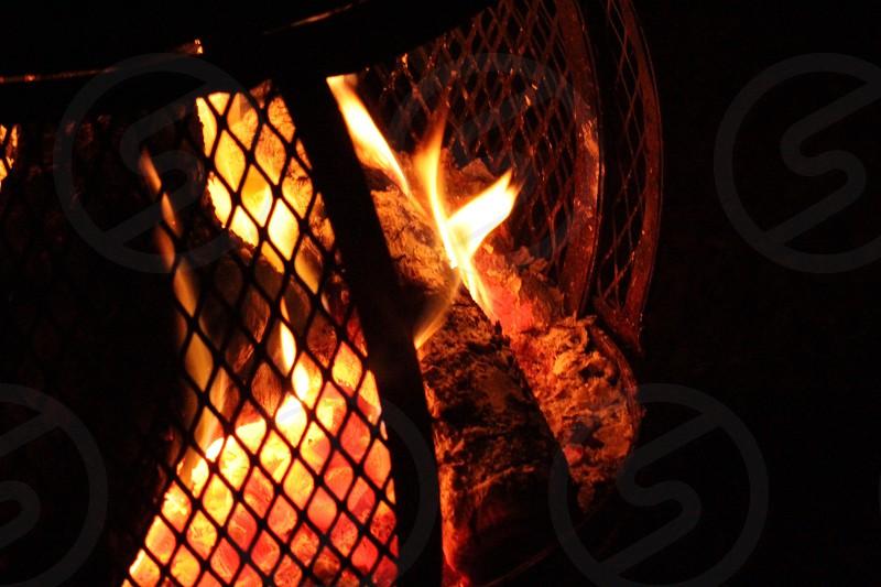 black wood stove photo