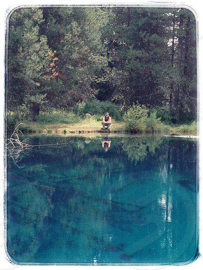 Little Crater Lake Mt Hood National Forest blue pool clear water photo