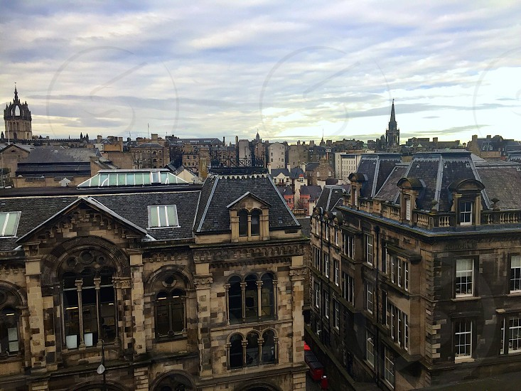 View from the national Museum of Scotland Edinburgh. photo