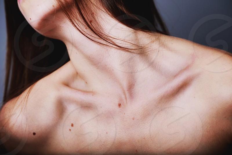 "female collarbone part of my ""stardust"" series photo"