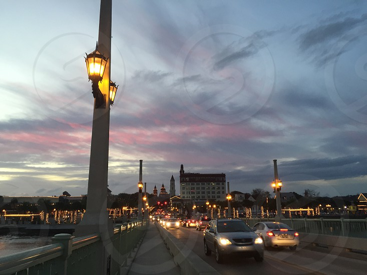 Draw Bridge Historic district Sunset photo