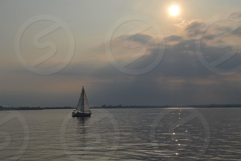 boat sailing on ocean photo
