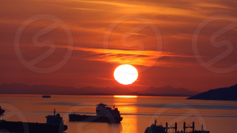 Vancouver Canada Sunset photo