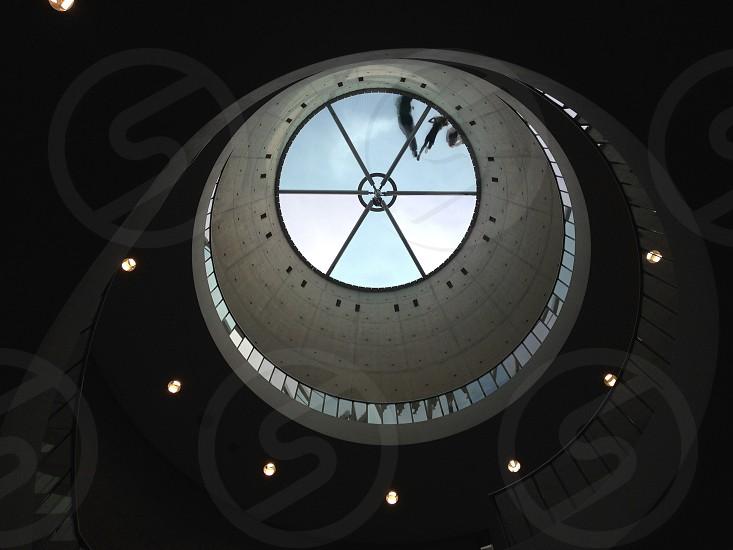 white round ceiling view photo