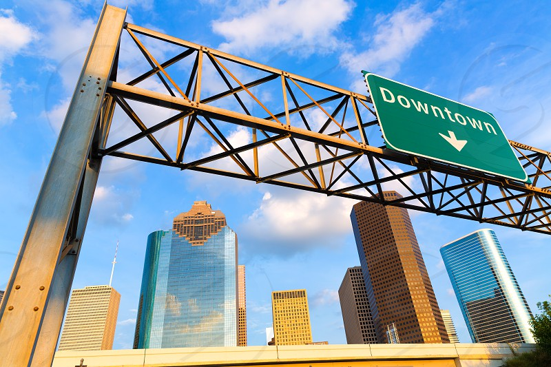 Huston skyline downtown from west at Texas US USA photo