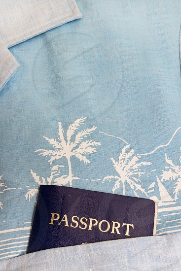 Passport in a Hawaiian Shirt Pocket photo