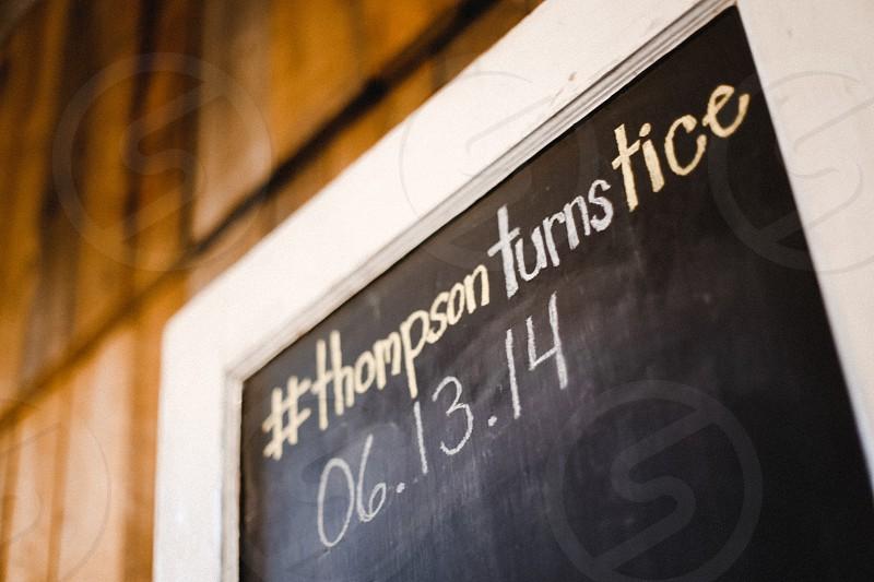 wedding chalkboard hashtag date decorations photo
