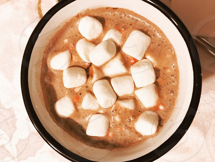 Hot chocolate with marshmallows  photo