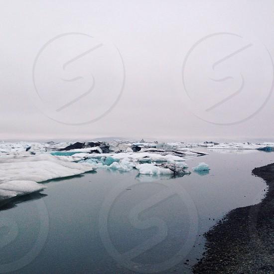 white ice field photo