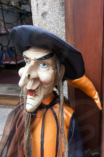 Witch Mannequin in a Street in Krumlov photo