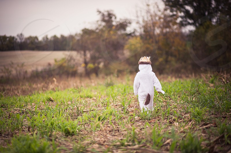 Halloween toddler baby boy fall leaves where the wild things are costume dress up boy childhood photo