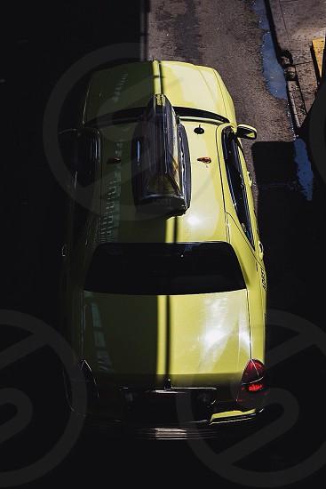 taxi sedan yellow photo