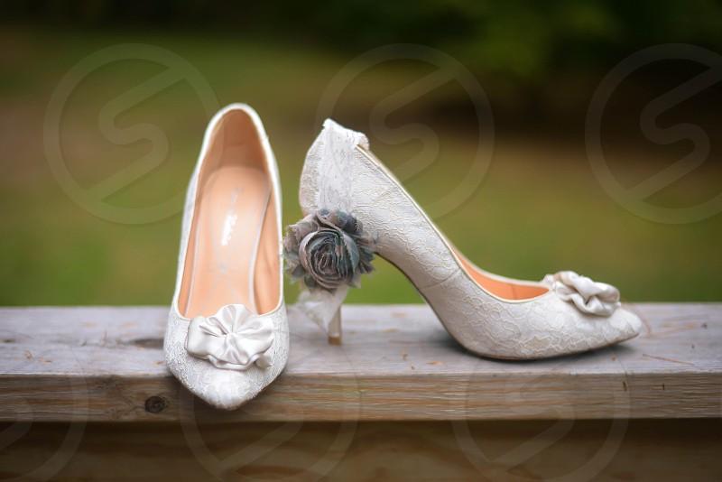 Wedding Shoes; Heels photo