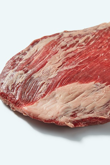 Fresh organic natural raw meat for grill close up structure ob beef on a white background copy space. photo