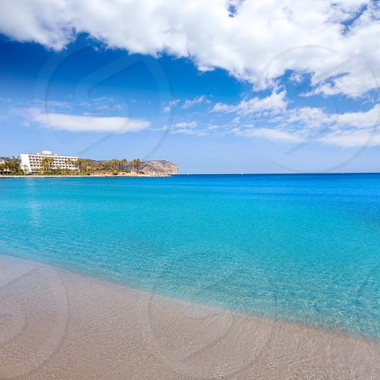 Javea playa del Arenal beach in Mediterranean Alicante at Xabia Spain photo