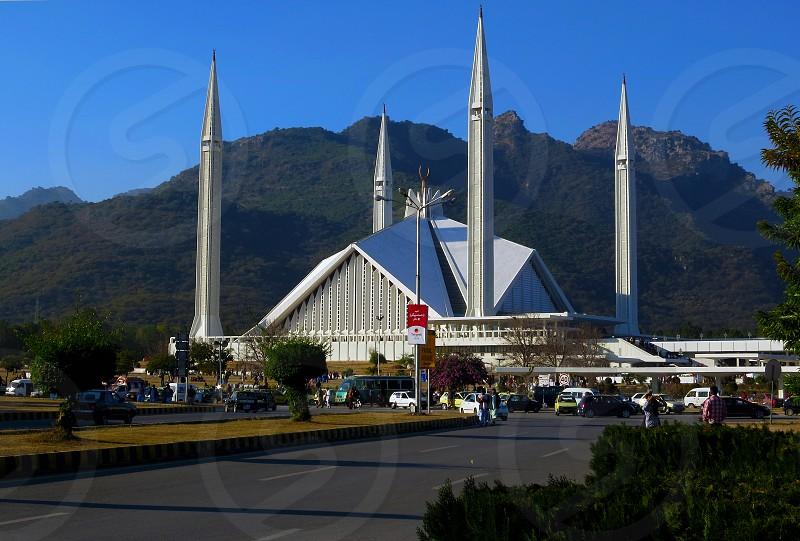 Faisal Mosque-Islamabad Pakistan. photo
