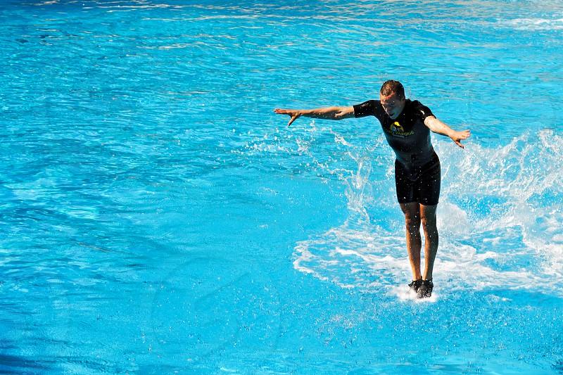 Man Walking on Water photo