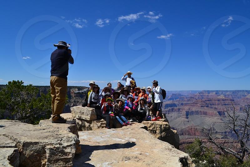 Tourists at Grand Canyon photo