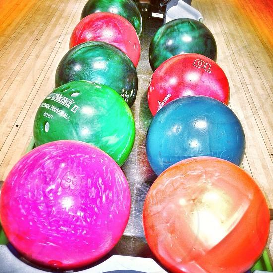 Bowling balls photo