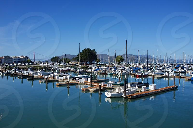 yachts on sea  photo
