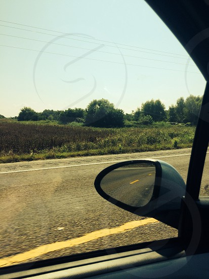 The open road with lovely scenery all around makes my heart jump with joy photo