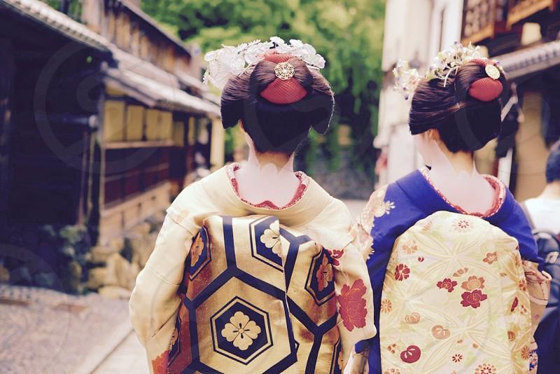 kyoto japan maiko kimono photo