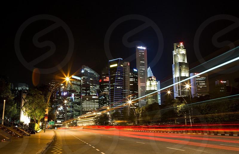 city night light view photo