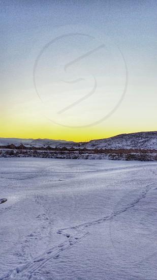 Winter sunset photo