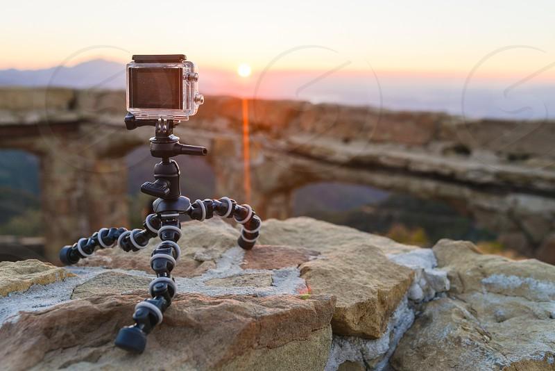 gopro go pro camera timelapse sunset photography tripod photo