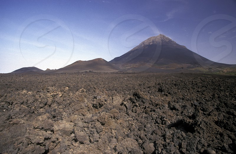 The Volcano Fogo on the Island Fogo on Cape Verde in the Atlantic Ocean in Africa. photo