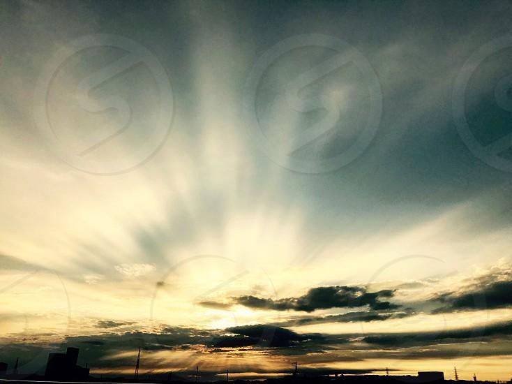 Sky sun cloud beautiful light photo