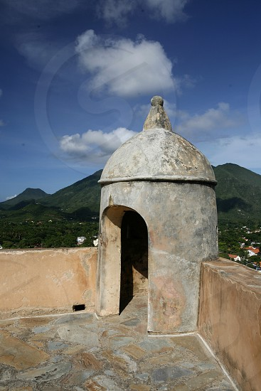 the Castillo Santa Cruz in the town of La Asuncion on the Isla Margarita in the caribbean sea of Venezuela. photo