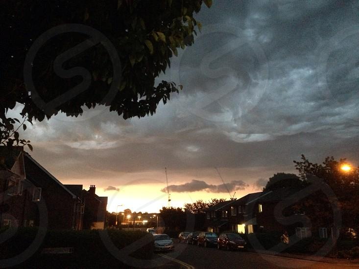 Threatening skies photo