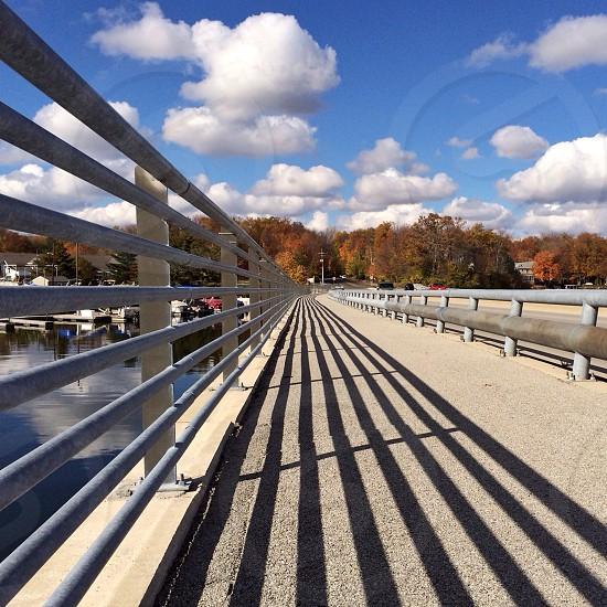 white metal railings  photo