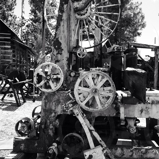 vintage industrial era machinery photo