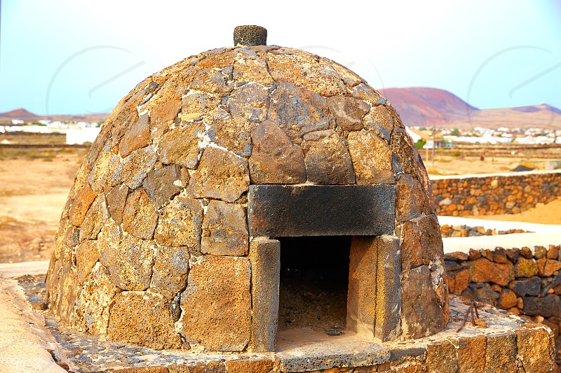 Fuerteventura stone oven at Canary Islands of Spain photo
