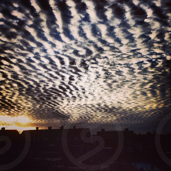 Mackerel sky photo