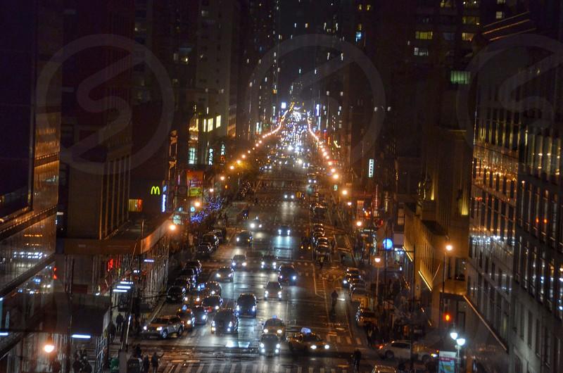 city streets at night photo