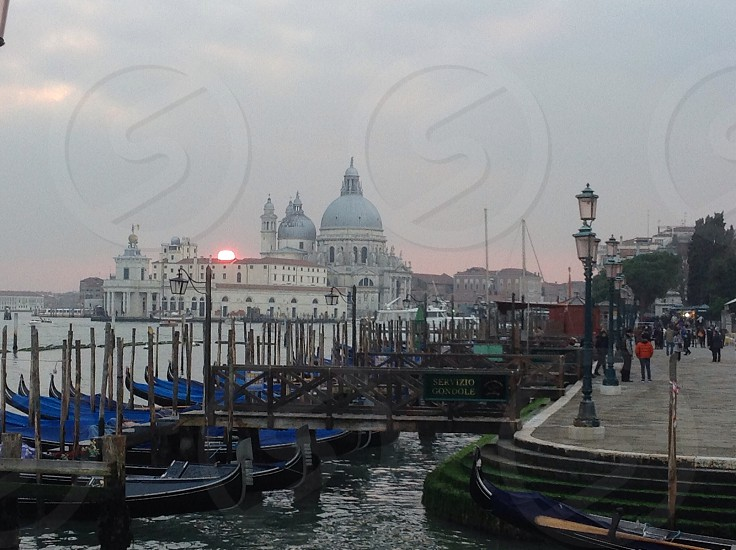 sunset in piazza San Marco -Venice photo