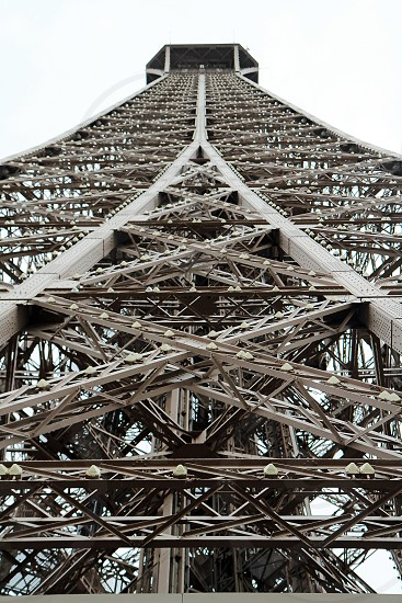 The Eiffel tower from below. photo