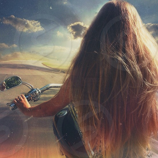 surreal dream - motorcycle girl photo