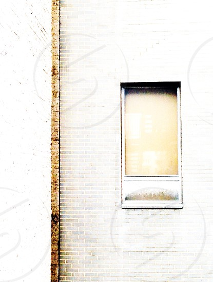 brown and white window photo