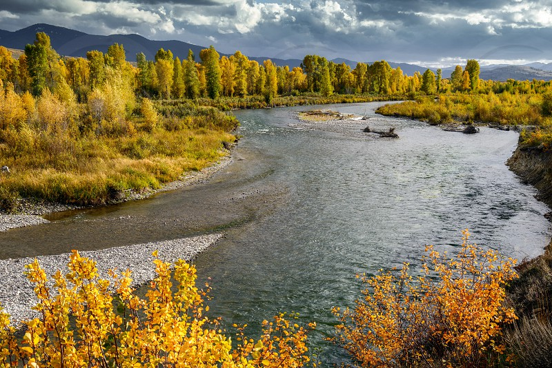 Gros Ventre River in Wyoming photo