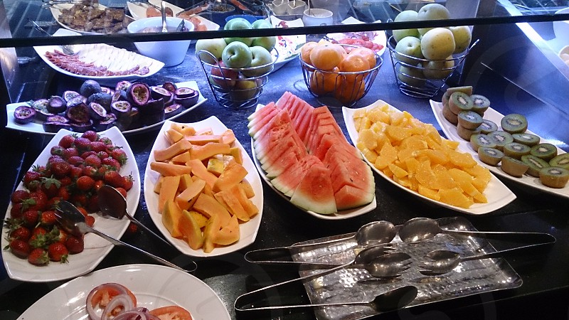 delicious fruit dishes for breakfast photo