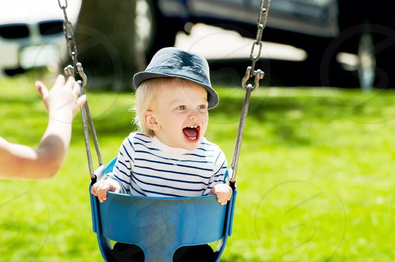 True happiness is swinging free photo
