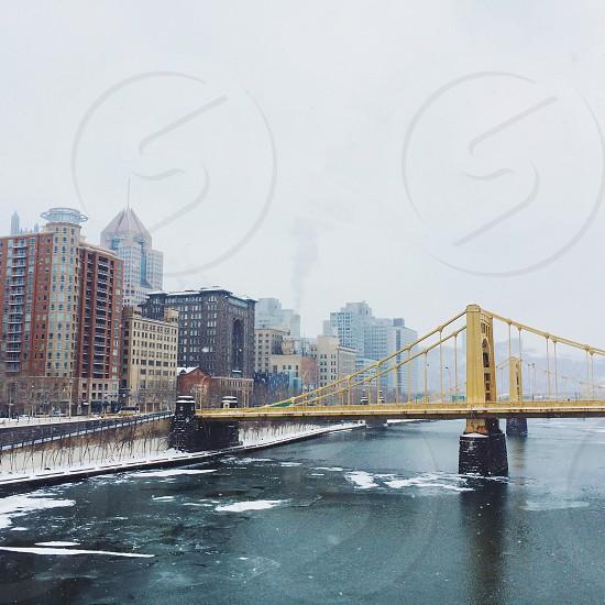 yellow bridge photography  photo