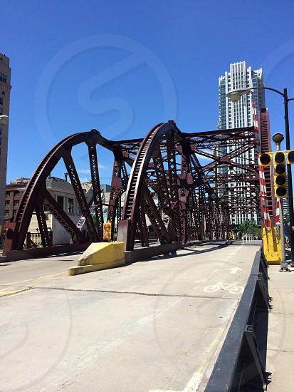 Chicago bridge street empty photo