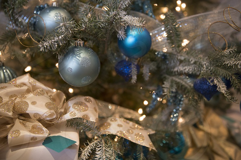 Christmas gifts and decorations photo