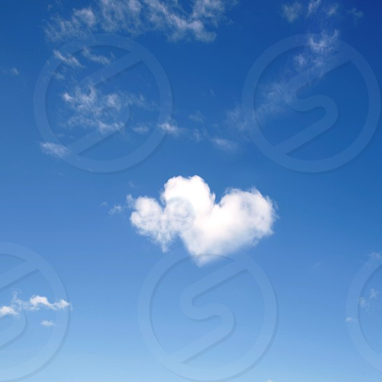 Heart shaped clouds photo